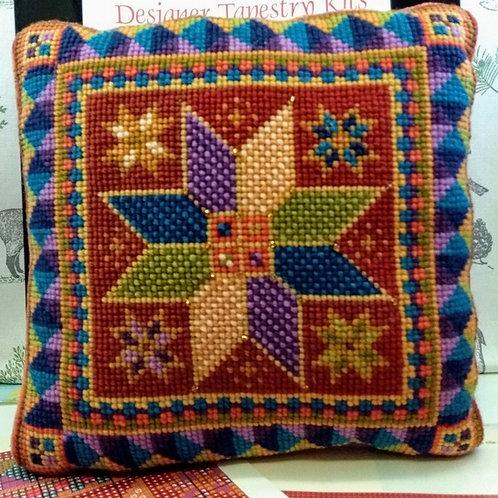 Star Tile Tapestry Cushion Kit, Star Tapestry Cushion Kit