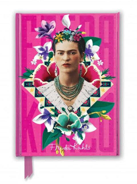 Frida Khalo Foiled Pocket Notebook, Ruled Notebook