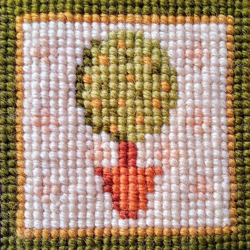 Lemon Tree Tapestry Mini-kit, Lemon Tree Tapestry Pincushion Kit