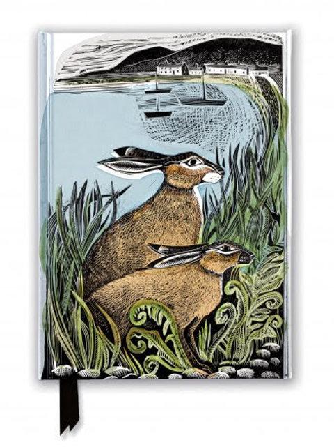 Angela Harding: Rathlin Hares, Foiled Journal, Notebook, Gift