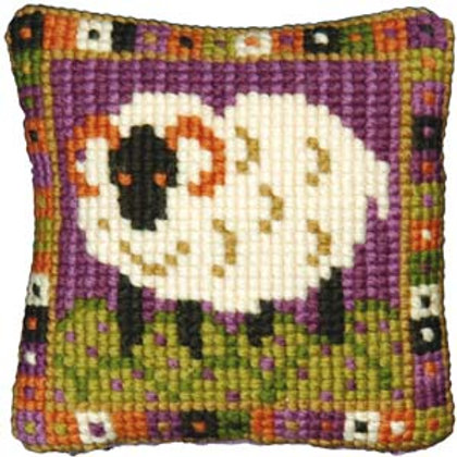 Sheep Tapestry Kit, Little Sheep Tapestry Pincushion Kit, Picture or Bag Front.