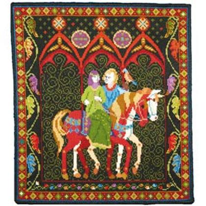 Medieval Tapestry Kit, Green Lady Tapestry kit, Animal Fayre Designer Tapestry