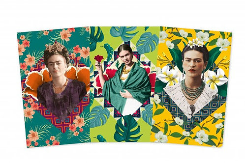 Frida Khalo Notebook Set, Frida Khalo Three Mini-notebooks
