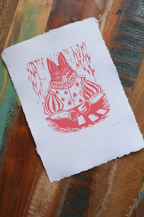 Coney Catcher, Lino cut Print by Jack Conkie, Limited Edition