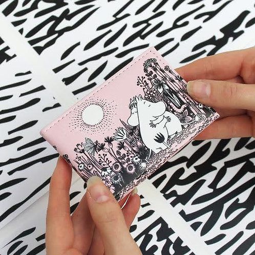Moomin Love Travel Pass Wallet, Pink Moomin Card Wallet, Moomin Gift