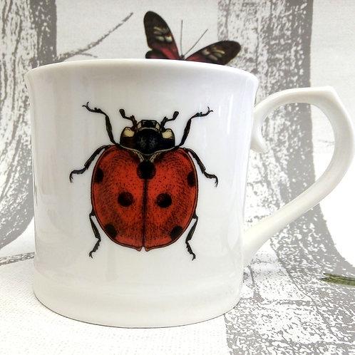 Ladybird Mug in Gift Box, Vegan, Microwave and Dishwasher safe.