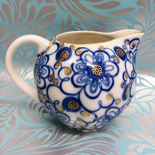 'Bindweed' Jug, Lomonosov Porcelain, Blue and White Jug, Small Jug