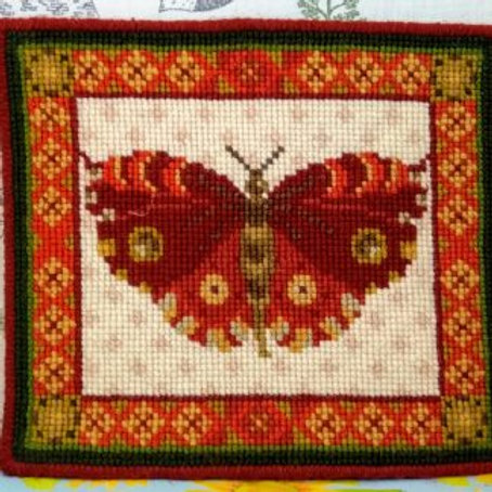 Animal Fayre Designs Red Butterfly Tapestry Kit