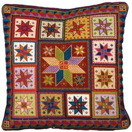 Star Tapestry Cushion Kit, Star Tile Tapestry Cushion kit, Star Charted Tapestry