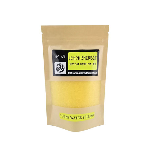 Lemon Sherbet Bath Salts, Glasgow Soap Company, Epsom Bath Salts
