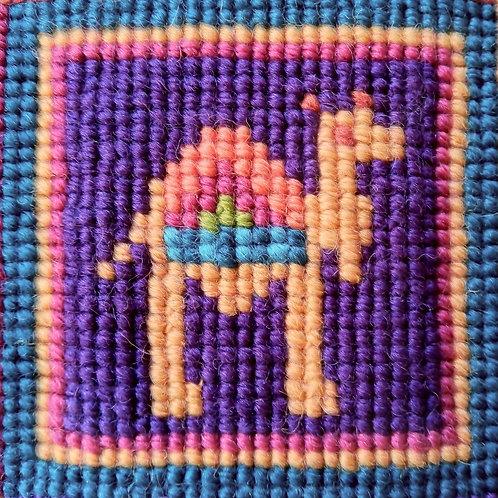 Camel Tapestry Mini-Kit, Camel Tapestry Pincushion, Camel Needlepoint kit