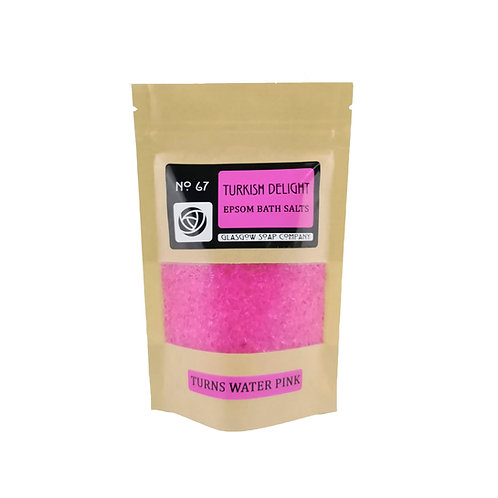 Turkish Delight Pink Bath Salts, Glasgow Soap Company, Epsom Bath Salts