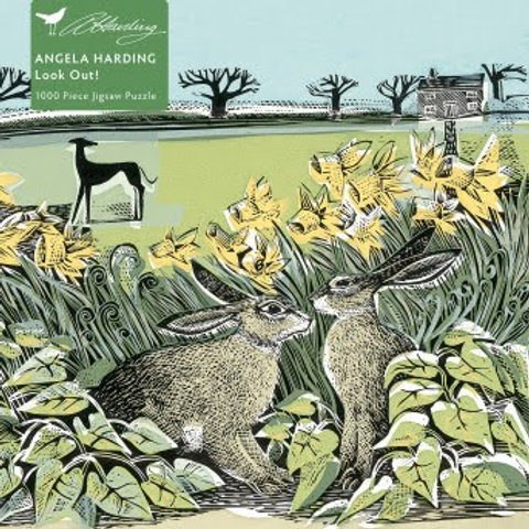 Adult 1000 Jigsaw Puzzle Angela Harding: Look Out!, Hare Jigsaw