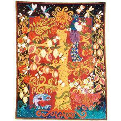 Tree Of Life Tapestry Wall Hanging Kit, Tree of Life Charted Needlepoint Kit