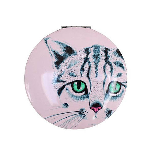 Cat Compact Mirror, Cat Gifts,