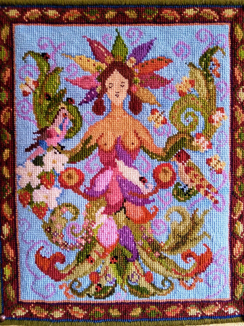 Goddess Tapestry Cushion Kit, Needlepoint, Charted Kit, Animal Fayre Designs