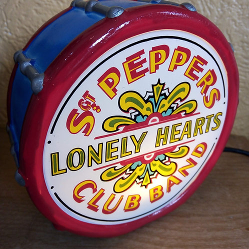 Sgt. Pepper Drum L.E.D. Light, The Beatles, House of Disaster
