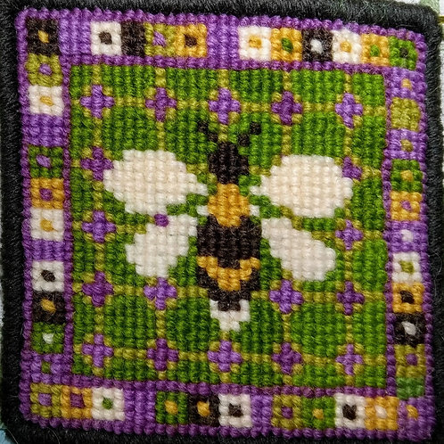 Little Bee Tapestry Cushion Kit, Bee Tapestry Picture, Charted Needlepoint,