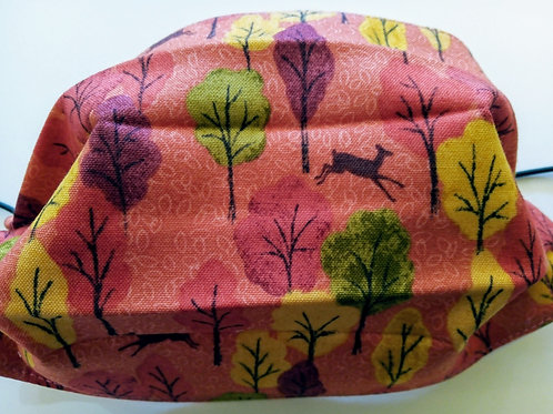 Autumn Woods, Facemask,Fabric mask, Washable, TRIPLE LAYER