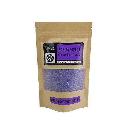 Parma Violet Purple Bath Salts, Glasgow Soap Company, Epsom Bath Salts