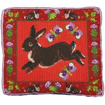 Rabbit Tapestry Kit, Rabbit Counted Tapestry Kit, Needlework Kit, Thistle