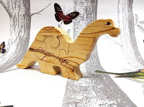 Four Piece Brontosaurus Wooden Puzzle
