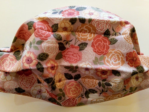 Peachy Roses, Facemask,Fabric mask, Washable, TRIPLE LAYER