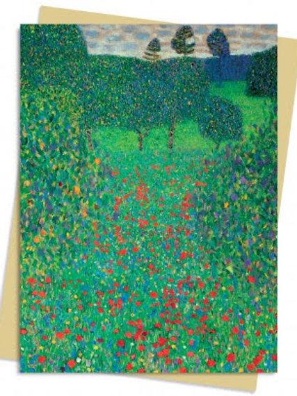 Gustav Klimt: Poppy Field Greeting Card Pack