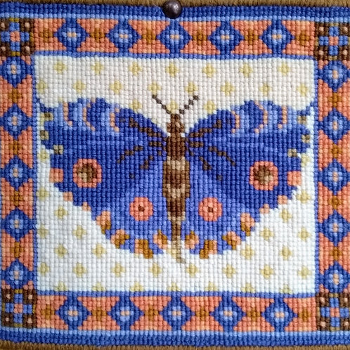 Blue Butterfly Tapestry Kit, Butterfly Tapestry Cushion Kit