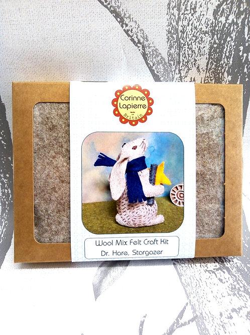 Stargazer Hare, Corinne Lapierre Felt Kit, Craft kit