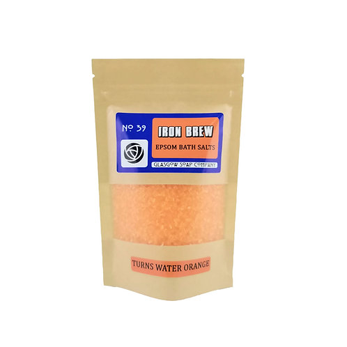 Iron Brew Orange Bath Salts, Glasgow Soap Company, Epsom Bath Salts
