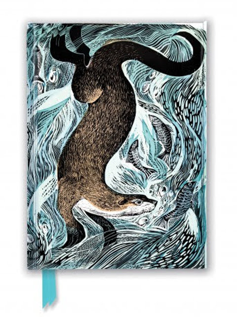 Angela Harding: Fishing Otter (Foiled Journal), Gift, Notebook