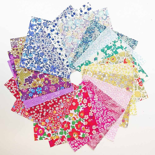 Alice Caroline Liberty Rainbow Pre-cut Hexagons For Patchwork