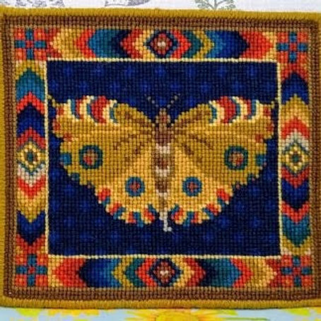 Yellow Butterfly Tapestry Kit, Yellow Butterfly Tapestry Cushion or Picture Kit