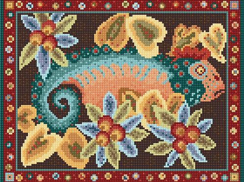 Traquair House Chapel Needlework Chameleon by Animal Fayre Design