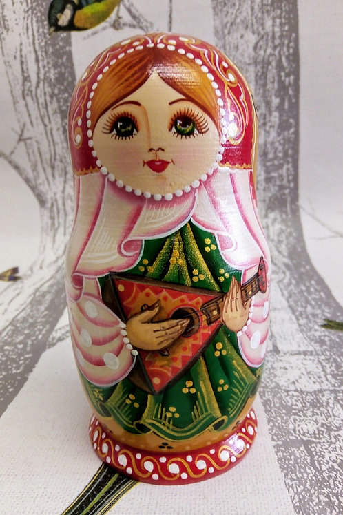 Matryoshka Doll, Floral Russian Matryoshka Doll Musical Instuments