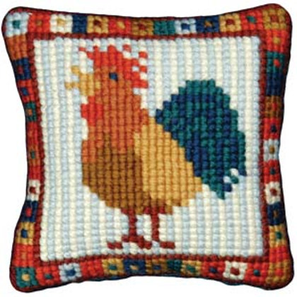 Cockerel Tapestry Pin Cushion, Little Cockerel Pin Cushion, Picture or Bag Front