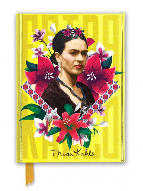 Frida Kahlo Yellow Foiled Journal, Frida Kahlo Notebook