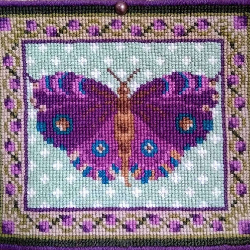 Purple Butterfly Tapestry Kit, Butterfly Picture or Cushion Kit