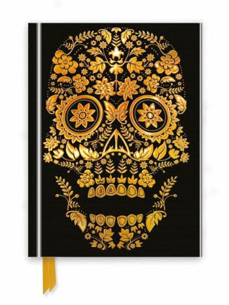 Gold Sugar Skull Foiled Journal, Sugar Skull Gift