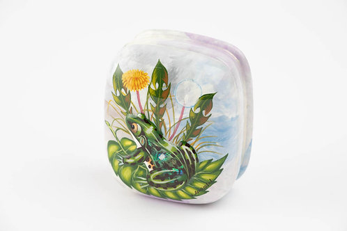 Frog and Dandelion- Hand Made Russian Lacquer Box