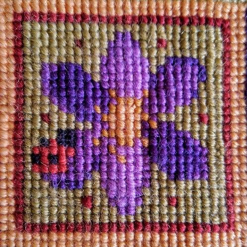 Flower and Ladybird Tapestry Mini-kit, Flower and Ladybird Tapestry Pincushion