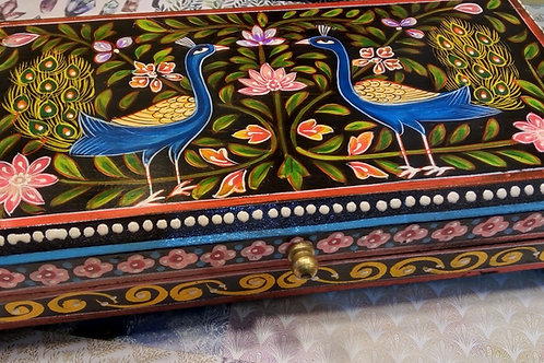 Peacock Mango Wood Box, Mother's Day, Valentine's Day, Fair Trade