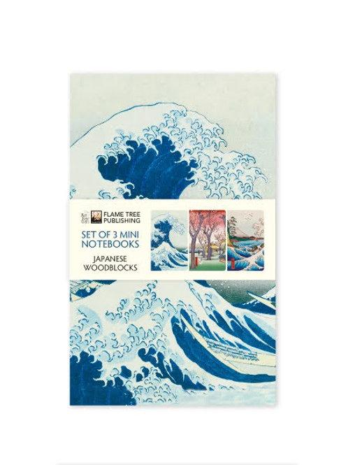 Japanese Woodblock Mini Notebooks, Hokusai Woodblock Print Note Books