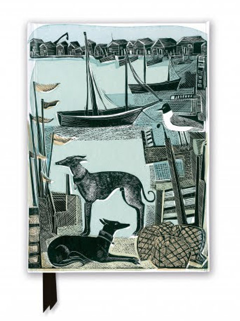 Angela Harding: Harbour Whippets (Foiled Journal). Notebook, Gift