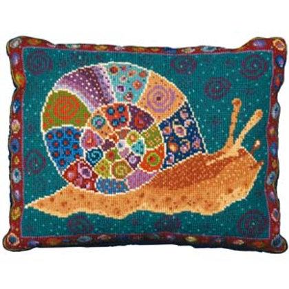 Ruth's Snail Tapestry Kit, Snail Tapestry Cushion Kit, Animal Fayre Designs