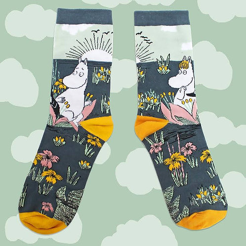 Lotus' Moomin socks,  Moomin and Snorkmaiden Socks, Gift Box