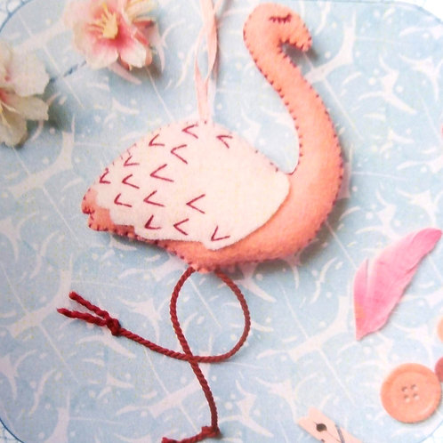 Flamingo, Corinne Lapierre Felt Kit, Craft kit