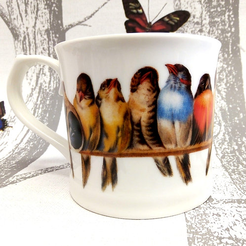 'PERCH' Mug in Gift Box, Bird Mug, Vegan, Microwave and Dishwasher safe.