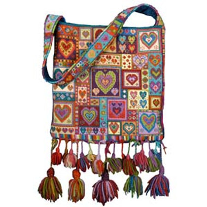 Animal Fayre Designs Little Hearts Patchwork Bag Strap Pack Tapestry Kit